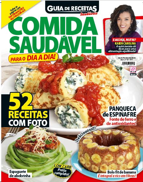 capa revista_guia receitas saudáveis